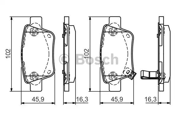 Комплект тормозных колодок BOSCH 0 986 495 073 (BP1532, E9 90R-02A1081/0795, 23620)
