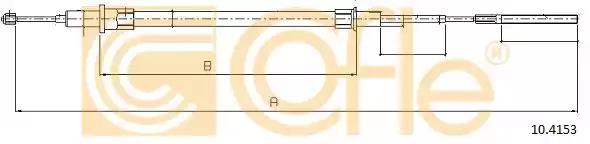Трос COFLE 10.4153 (92.10.4153)
