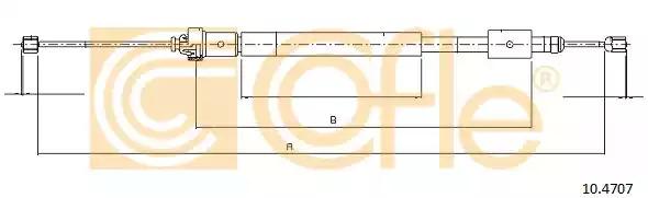Трос COFLE 10.4707 (92.10.4707)