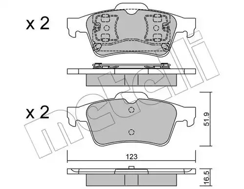 Комплект тормозных колодок METELLI 22-0337-0 (23482, 23483)