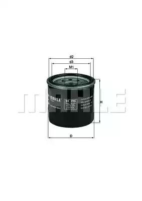 Фильтр KNECHT OC 195 (78636326)
