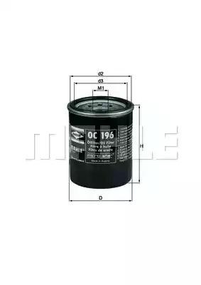 Фильтр KNECHT OC 196 (78636342)