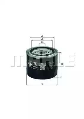 Фильтр KNECHT OC 204 (77493752)