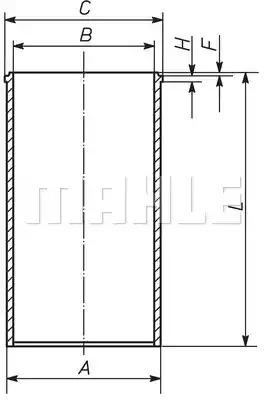 Втулка MAHLE ORIGINAL 213 WT 03 00 (213 WT 03)