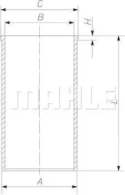 Втулка MAHLE ORIGINAL 227 WT 39 00 (227 WT 39)