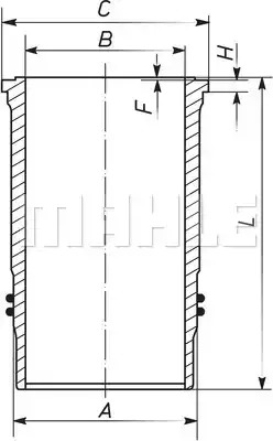 Втулка MAHLE ORIGINAL 101 WN 16 00 (101 WN 16)