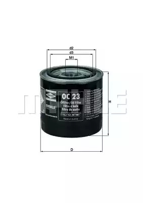 Фильтр KNECHT OC 23 (72014652)