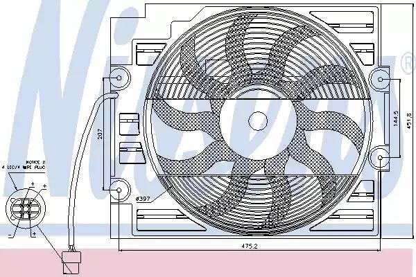 Вентилятор NISSENS 85421