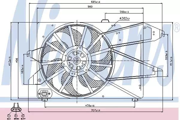 Вентилятор NISSENS 85482