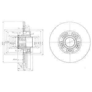 Тормозной диск DELPHI BG9031RS