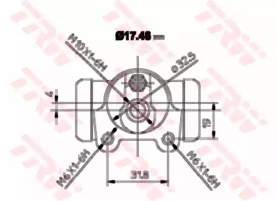Цилиндр TRW BWA129