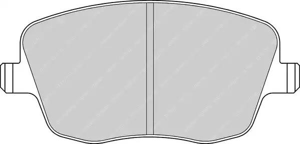 Комплект тормозных колодок FERODO FDB1419 (23581)