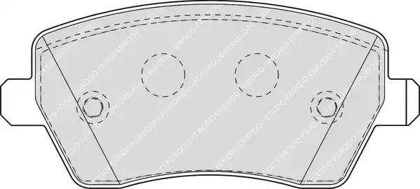 Комплект тормозных колодок FERODO FDB1617 (23973)