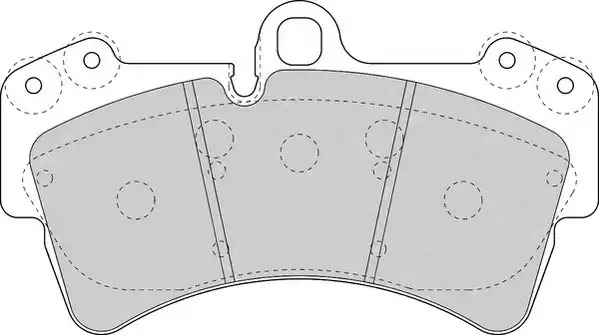 Комплект тормозных колодок FERODO FDB1626 (23693)