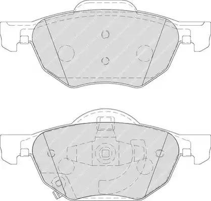 Комплект тормозных колодок FERODO FDB1704 (23719)