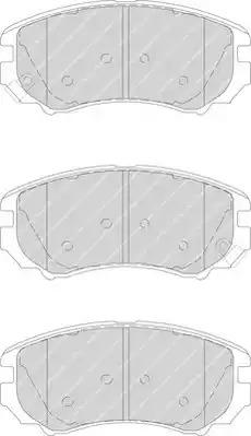 Комплект тормозных колодок FERODO FDB1733 (23891)