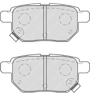 Комплект тормозных колодок FERODO FDB4042 (24610)