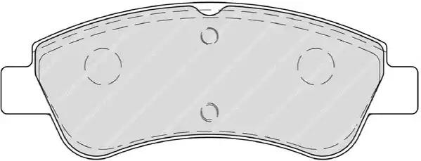 Комплект тормозных колодок FERODO FDB4066 (23954)