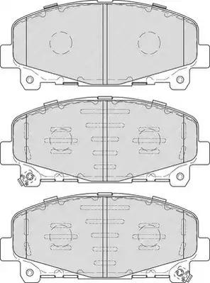 Комплект тормозных колодок FERODO FDB4270 (24766, 24785, 24786)