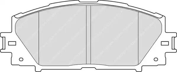 Комплект тормозных колодок FERODO FDB4310 (24451)