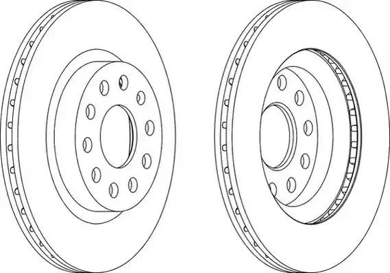 Тормозной диск FERODO DDF1223 (DDF1223, DDF1223C-1, DDF1223-1, DDF1223C)