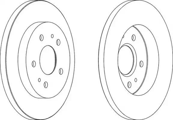 Тормозной диск FERODO DDF1387 (DDF1387, DDF1387-1)