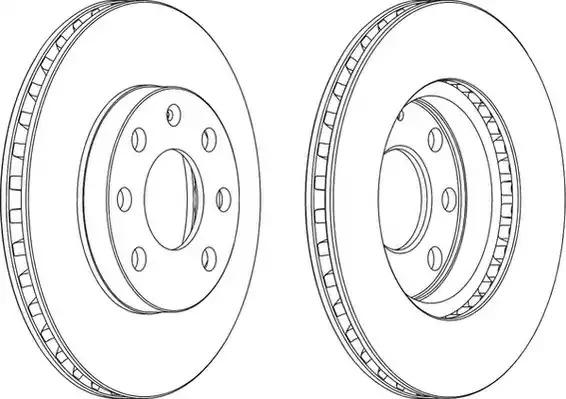 Тормозной диск FERODO DDF151 (DDF151, DDF151C-1, DDF151-1, DDF151C)