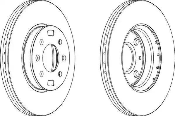 Тормозной диск FERODO DDF1603 (DDF1603, DDF1603-1, DDF1603C, DDF1603C-1)