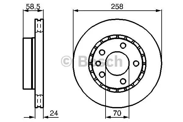 Тормозной диск BOSCH 0 986 478 265 (BD211, E1 90 R - 02C0091/0548)