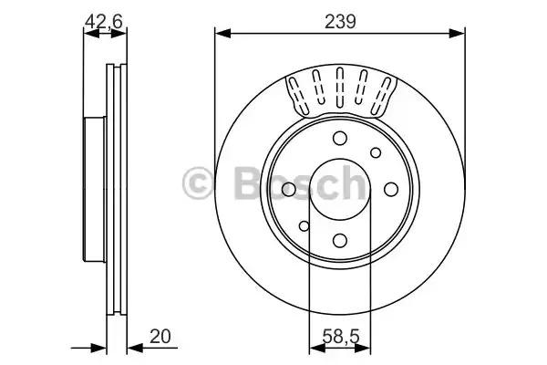 Тормозной диск BOSCH 0 986 479 082 (BD1653, E1 90 R - 02C0349/0119)