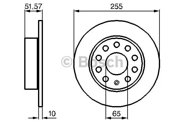 Тормозной диск BOSCH 0 986 479 099 (BD1029)