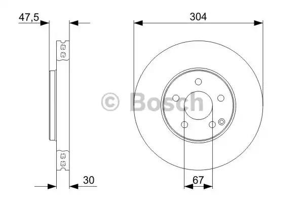 Тормозной диск BOSCH 0 986 479 333 (BD1184)