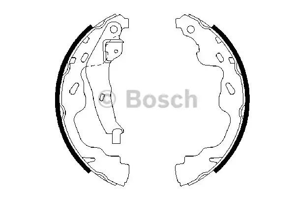 Комлект тормозных накладок BOSCH 0 986 487 665 (BS943)