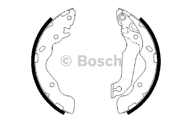Комлект тормозных накладок BOSCH 0 986 487 673 (BS893)