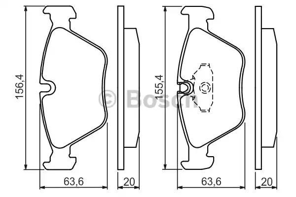Комплект тормозных колодок BOSCH 0 986 494 007 (BP196, E9 90R-02A1080/3442, 21990)
