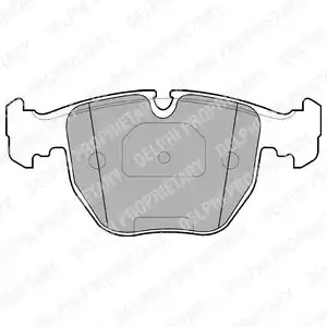 Комплект тормозных колодок DELPHI LP1003 (21486)