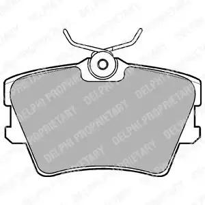 Комплект тормозных колодок DELPHI LP1019 (21882)