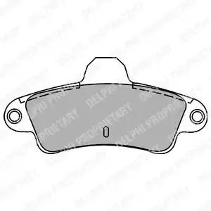 Комплект тормозных колодок DELPHI LP1242 (21586)