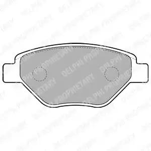 Комплект тормозных колодок DELPHI LP1866 (23934)