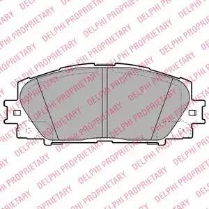 Комплект тормозных колодок DELPHI LP2006 (24451)