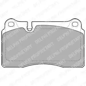 Комплект тормозных колодок DELPHI LP2012 (24098)