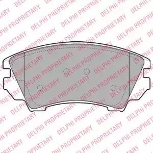 Комплект тормозных колодок DELPHI LP2081