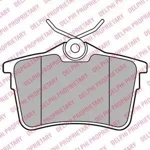 Комплект тормозных колодок DELPHI LP2147