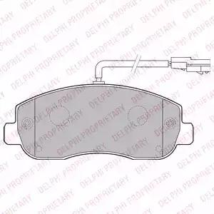 Комплект тормозных колодок DELPHI LP2190