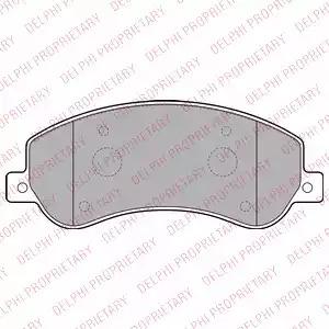 Комплект тормозных колодок DELPHI LP2257