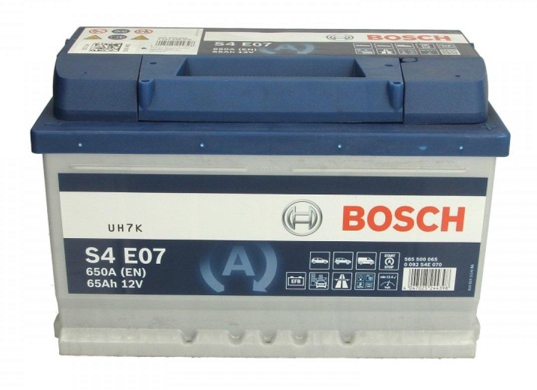 Аккумулятор Bosch S4 EFB 65 Ah 0 092 S4E 070 0 092 S4E 070