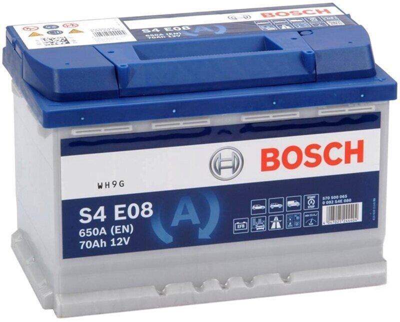 Аккумулятор Bosch S4 EFB 70 Ah 0 092 S4E 080 0 092 S4E 080