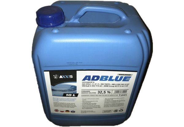 Жидкость AdBlue AXXIS SCR-10 л 10 л