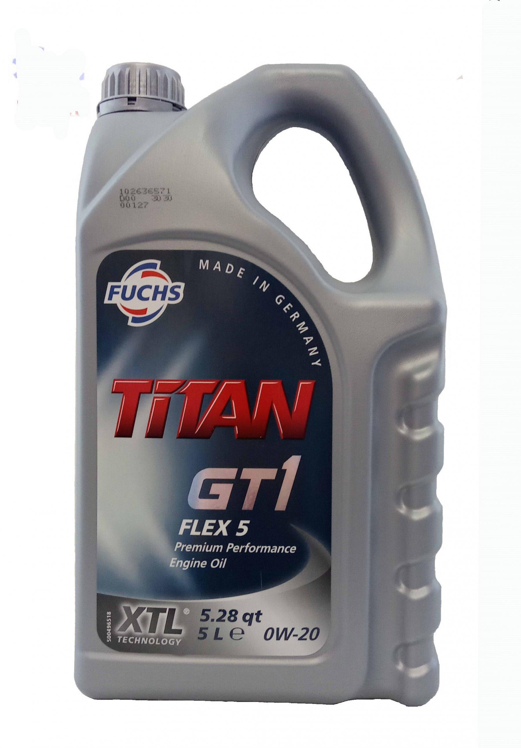 Fuchs Titan GT1 FLEX 5 0w-20 5 л