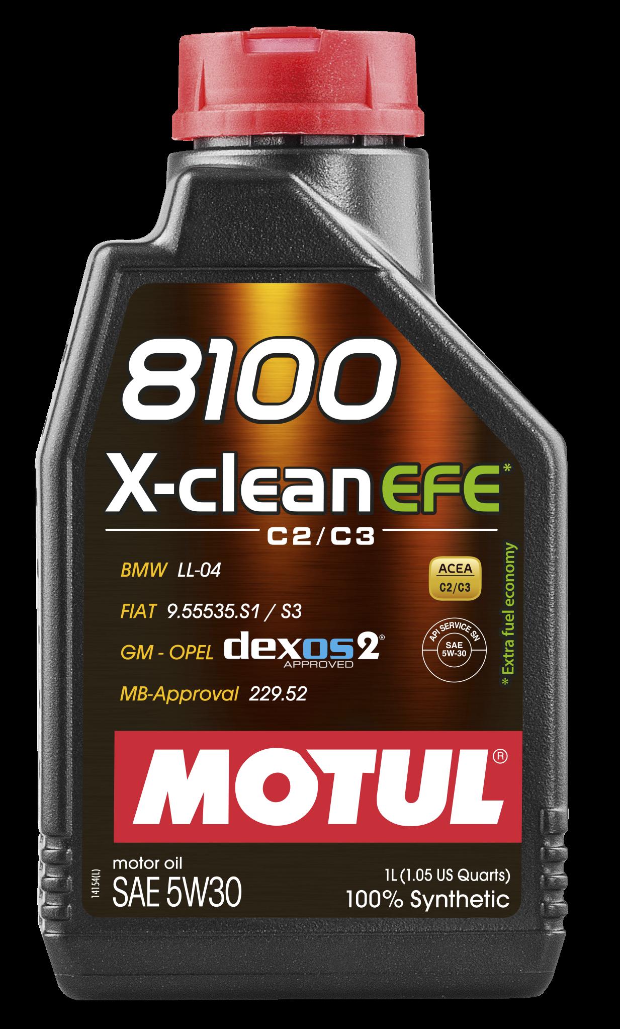 Motul 8100  X-clean EFE SAE 5w-30 4 л 4 л